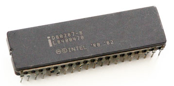 Intel D80287-8 Side View