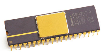 Intel C80287-3 Side View