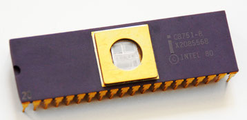 Intel C8751-8 Side View