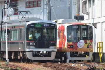 小野駅構内の側線で留置中の5002F