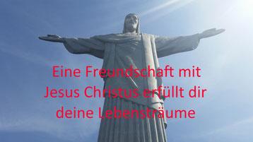 Christus Statue ,eine Freundschaft mit Jesus Christus erfüllt dir deine Lebensträume.