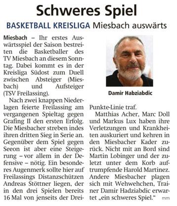 Artikel im Miesbacher Merkur am 2.11.2019 - zum vergrößern klicken