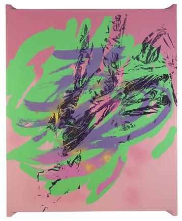 Imprint Painting #41217, 2017, mixed technique on canvas, 100x80 cm