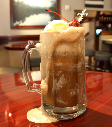 We have a birthday in the house and this week we are posting one of the birthday boy's favorite drinks the All-American Root Beer Float!