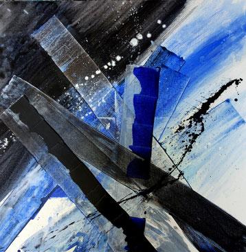 """""""bloudjinzzz"""" - toile réalisée avec Benoit GUERIN - 80X80 - 2014"""