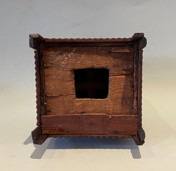 tramp art money box