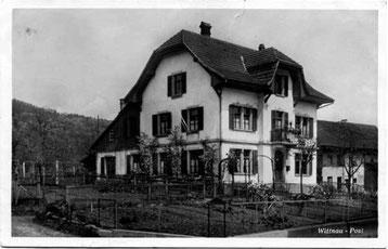 Die alte Post 1932 (Postkarte aus dem Verlag Monbaron, Basel)