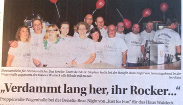 "Beat-Night mit der Gruppe ""Just for Fun"", Benefiz-Konzert"