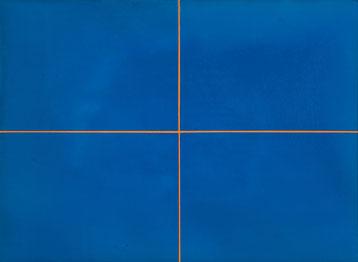 o.T. (Blau mit Mücke) 2013 Ölfarbe  70 x 95 cm