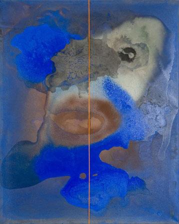 o.T. (M.E.) 2013 Tempera-, Ölfarbe 100 x 80 cm