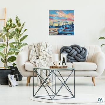 Kniepsand, Acryl auf Leinwand, 2018, 100x100 cm