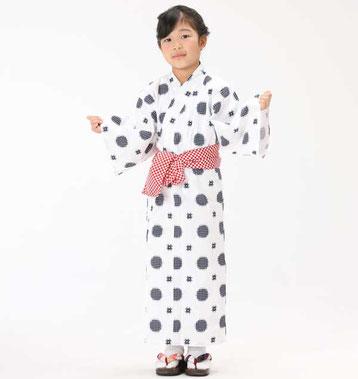定番 日本製 子供 旅館浴衣