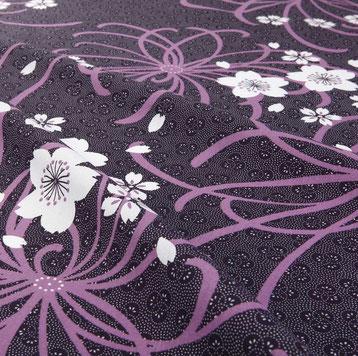 浴衣 A-0001 ジャパネスク 桜に乱菊