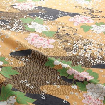 浴衣 D-0008 華物語 浜名湖の風 ぼたん