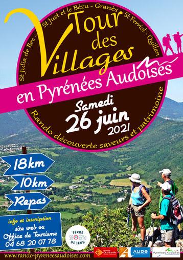 Tour des Villages en Pyrénées Audoises 2021