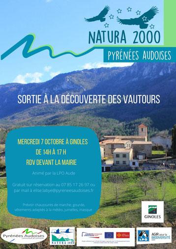 sortie nature à la découverte des vautours - Natura 2000 - Ginoles - Pyrénées Audoises