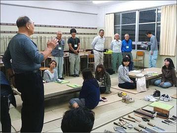 ものづくり魅力発見講座 神奈川県立秦野総合高校 畳職人の談話とミニ畳製作体験