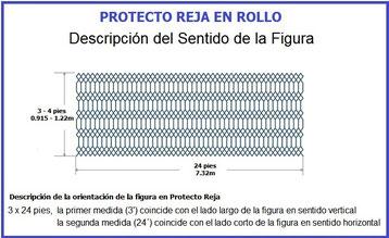 PROTECTO REJA DE ACERO MEDIDAS DEL ROLLO