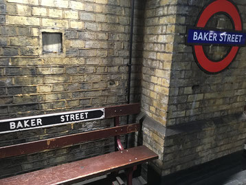Here in Baker street, the oldest underground station (world's 1st, est. 1863) in London, which is close to the Sherlock Holmes museum, it was time to change public transport again.