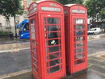 The typical, red telephone cabins are only tourist attractions these days.
