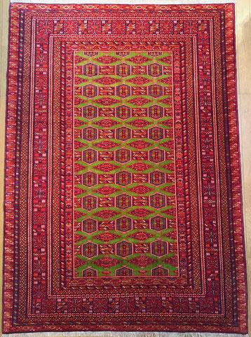 TORKYAMAN wool&silk 縦糸はsilk 大胆で鮮やかな色使いです。