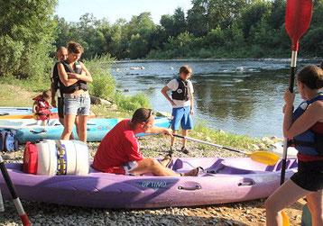 Descente en canoë ou kayak, en 2 jours départ de vallon pont d'arc, passage dans la réserve naturelle des gorges de l'Ardèche
