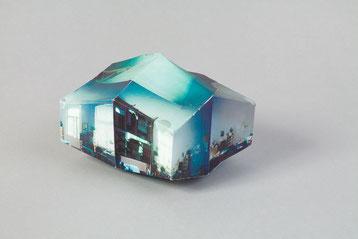 Raumstudie III . 2011 . Toner auf Papier . 10 x 15 x 10 cm