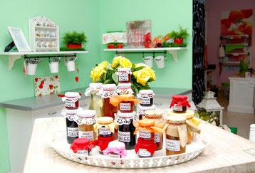 Marmeladenauswahl aus Sabines Marmeladen