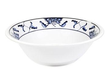 Suppenschale mit abgerundetem Rand aus Tatung, Li, Cameo oder Datung Porzellan mit blauem Lotus Motiv (Motivnr. 518 / 255). In verschiedenen Größen und Motiven erhältlich.