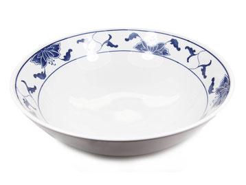 Suppenschale ohne Rand aus Tatung, Li, Cameo oder Datung Porzellan mit blauem Lotus Motiv (Motivnr. 518 / 255). In verschiedenen Größen und Motiven erhältlich.