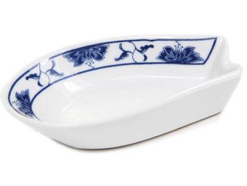 Löffelhalter für Reislöffel und Suppenlöffel aus Tatung, Li, Cameo oder Datung Porzellan mit blauem Lotus Motiv (Motivnr. 518 / 255). In verschiedenen Größen und Motiven erhältlich.