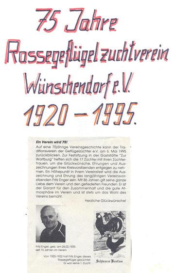 Bild: Wünschendorf Erzgebirge Züchterverin