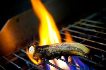 Pulpo seco a la llama