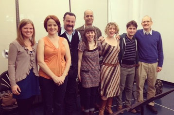 "Playwright Adam Kraar (far right) and team for the reading of his play ""A Dream of a Deer at Dusk"""