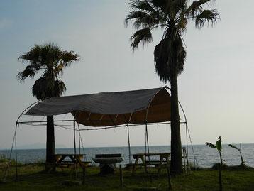 そろそろ日よけが欲しい季節です。EBISU SURFも夏仕様~