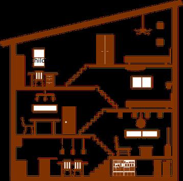 スキップフロアの家