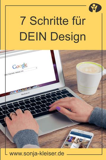 7 Schritte für dein Design - Das erwartet dich bei mir - Sonja Kleiser Werbung & Design