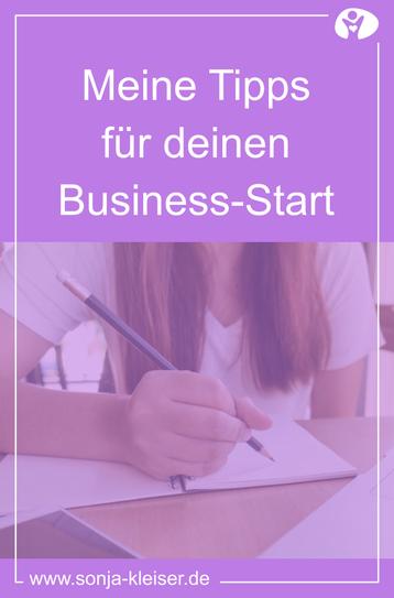 Meine Tipps für deinen Business-Start - Sonja Kleiser Werbung & Design
