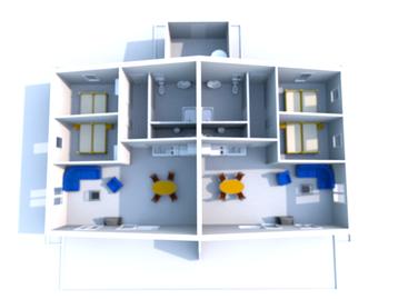 Grundriss beider Wohnungen