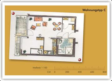 SeidenCarré betreutes Wohnen Krefeld Wohnung Grundriss C