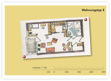 SeidenCarré betreutes Wohnen Krefeld Wohnung Grundriss E
