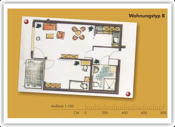 SeidenCarré betreutes Wohnen Krefeld Wohnung Grundriss B