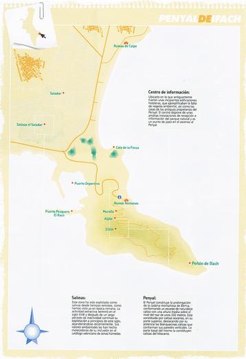 Mapa y localización del Parque Natural del Peñón de Ifach en Alicante (Comunitat Valenciana)