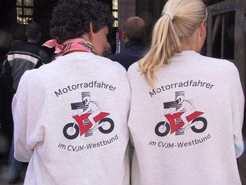 Motorradfahrer im CVJM-Westbund