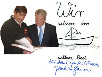 Bundespräsident Joachim Gauck (rechts) mit Manfred Wille
