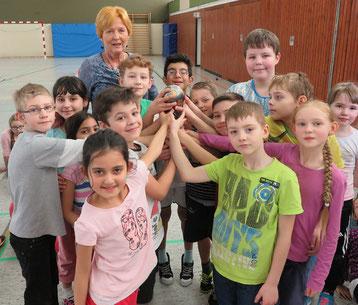 Die 3d mit ihrer Klassenlehrerin Christina Oeser