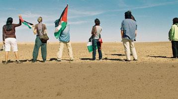 Aktivisternes march gennem ørken