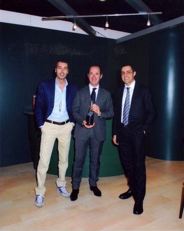 Stefano Misischia (rechts) mit dem Minister Luca Zaia (in der Mitte)