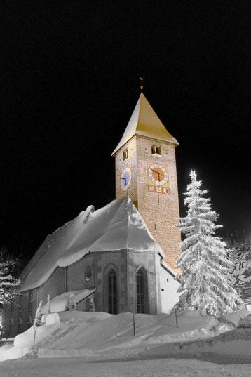 Bild: Kalendertitelbild,Klosters 1,Kirche Klosters