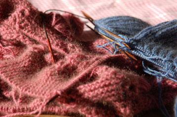 Rimu von Zealana in der Farbe R24 = Pink Petiti und R23 = Kakariki Blue